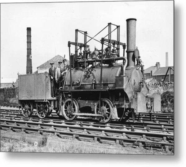 Stephensons First Metal Print by Topical Press Agency
