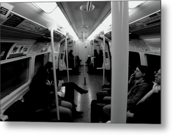 Metal Print featuring the photograph Subway by Edward Lee