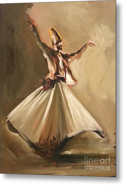 Metal Print featuring the painting Sufi by Nizar MacNojia