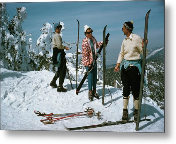 Sugarbush Skiing Metal Print by Slim Aarons
