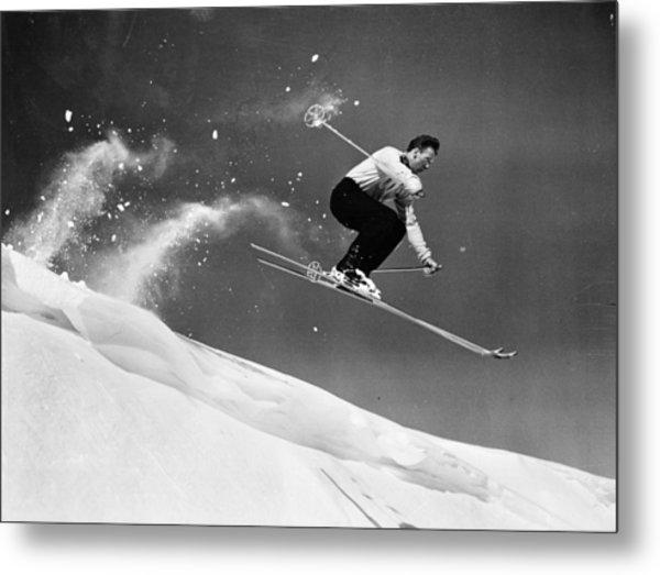 Sun Valley Skier Metal Print by Keystone