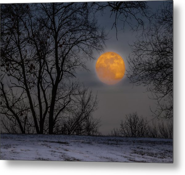 Super Blue Moon Rising 2 Metal Print