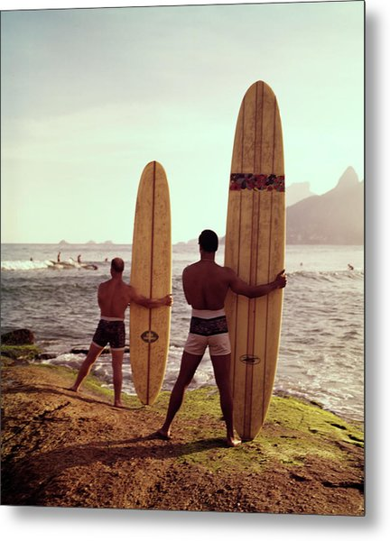 Surfboards Ready Metal Print