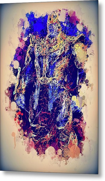 Thanos Watercolor Metal Print