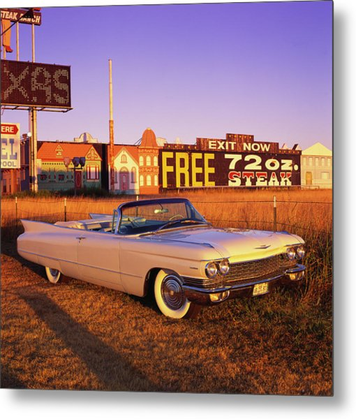 The 1960 Cadillac Series 62 Convertable Metal Print by Car Culture