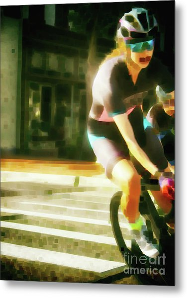 The Art Of Cycling  Metal Print by Steven Digman