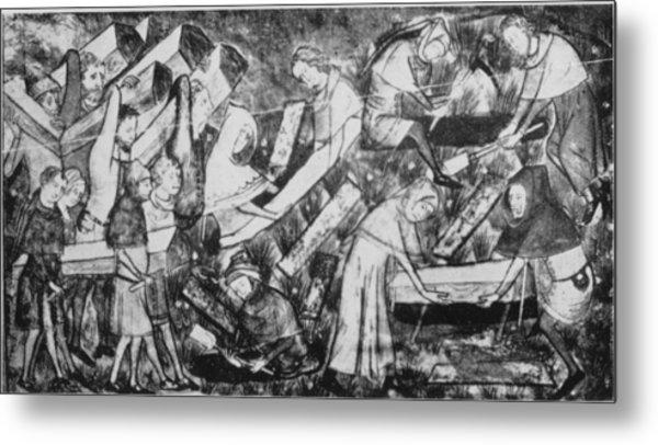 The Black Death Metal Print by Hulton Archive