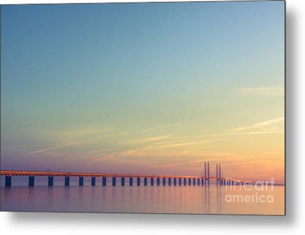 The Bridge Between Denmark And Sweden Metal Print