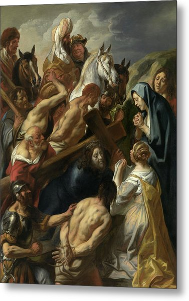 The Carrying Of The Cross, 1657 Metal Print