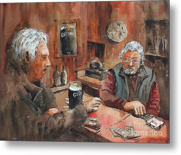 Metal Print featuring the painting The Knave Wins by Val Byrne