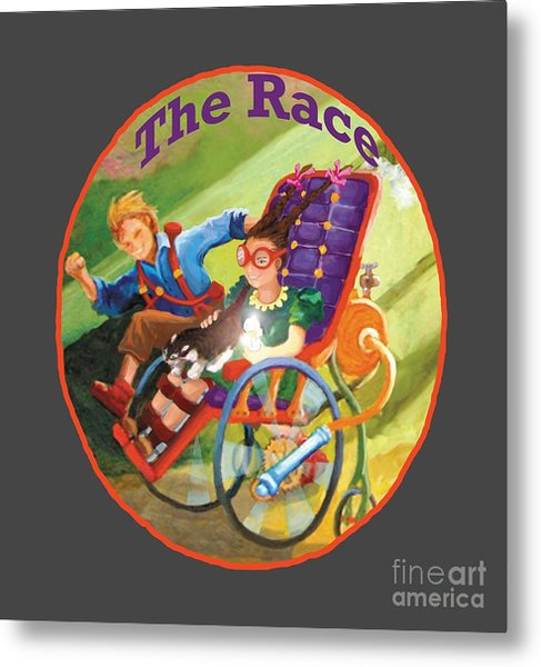 Metal Print featuring the painting The Race by Donna Hall