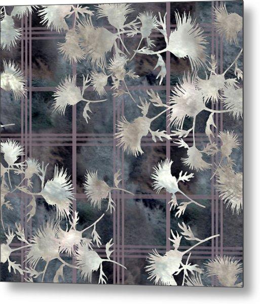 Thistle Plaid  Metal Print