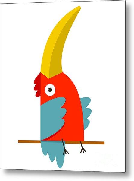 Toucan Bird With Big Beak Sitting Metal Print
