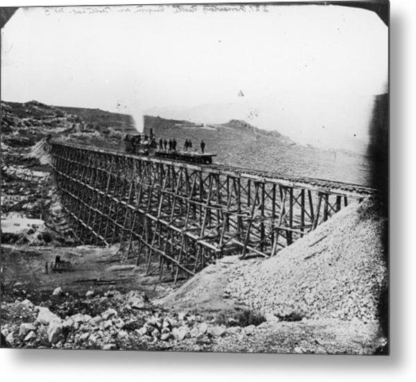 Transcontinental Railroad Metal Print by Fotosearch