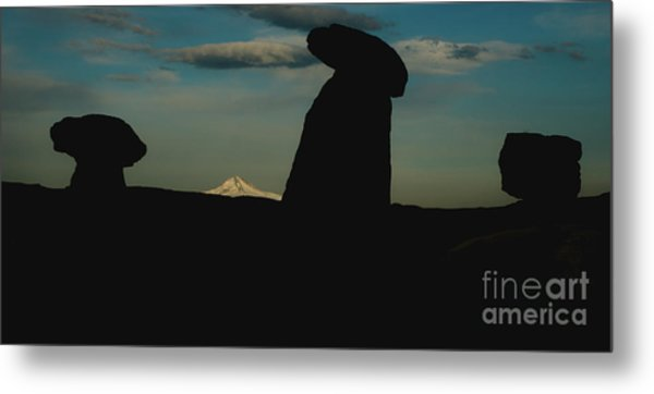 Turkish Landscapes With Snowy Mountains In The Background Metal Print