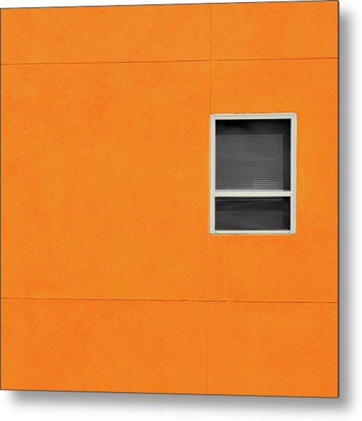 Very Orange Wall Metal Print
