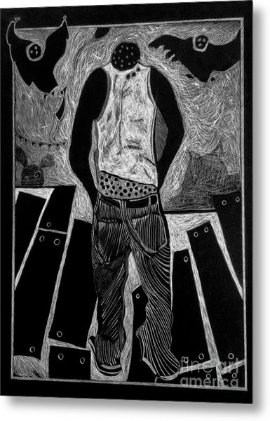 Walking While Black. Metal Print