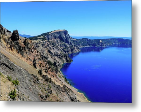 Metal Print featuring the photograph West Rim Of Crater Lake by Dawn Richards
