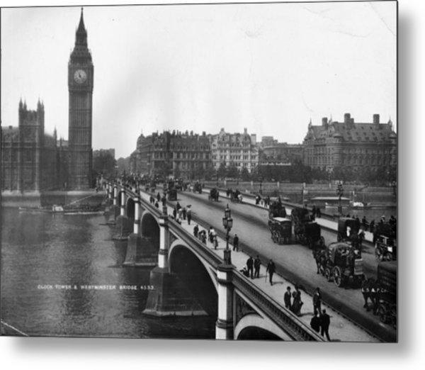 Westminster Bridge Metal Print by London Stereoscopic Company