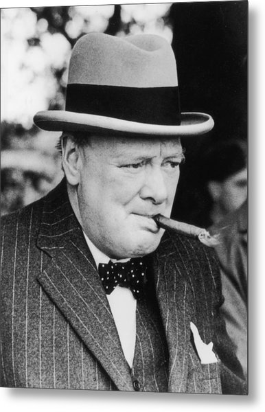 Winston Churchill Metal Print by Central Press
