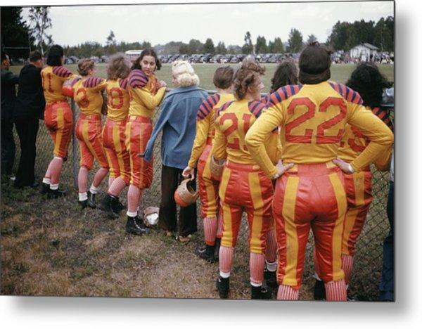 Womens Football Metal Print by Michael Ochs Archives