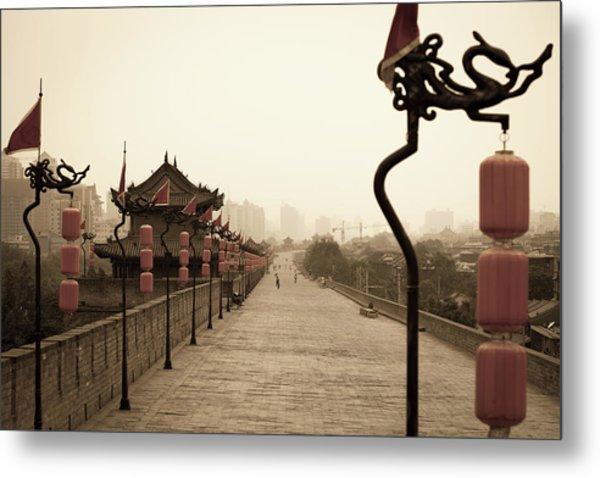 Xian City Wall, China Metal Print by Fototrav