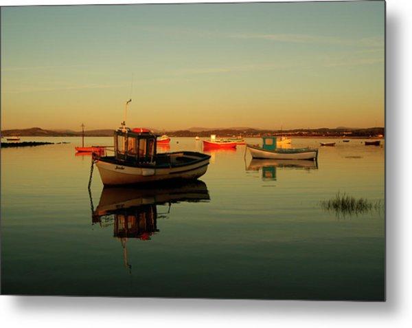 10/11/13 Morecambe. Boats On The Bay. Metal Print
