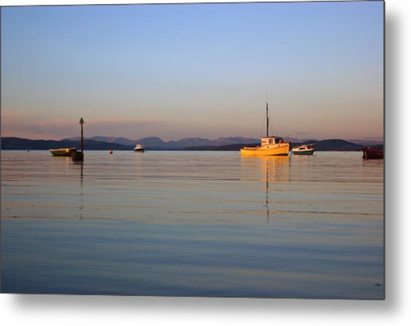 10/11/13 Morecambe. Fishing Boats Moored In The Bay. Metal Print