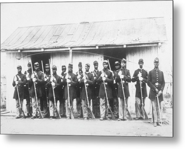 107th Us Coloured Infantry Metal Print by Archive Photos