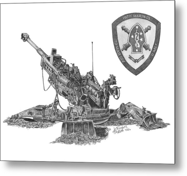 10th Marines 777 Metal Print