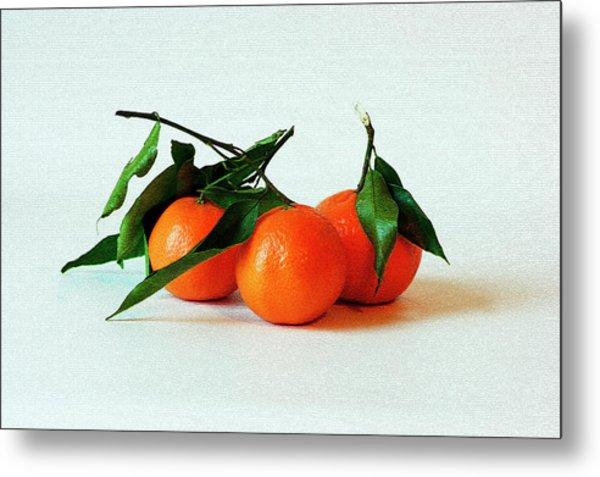 11--01-13 Studio. 3 Clementines Metal Print