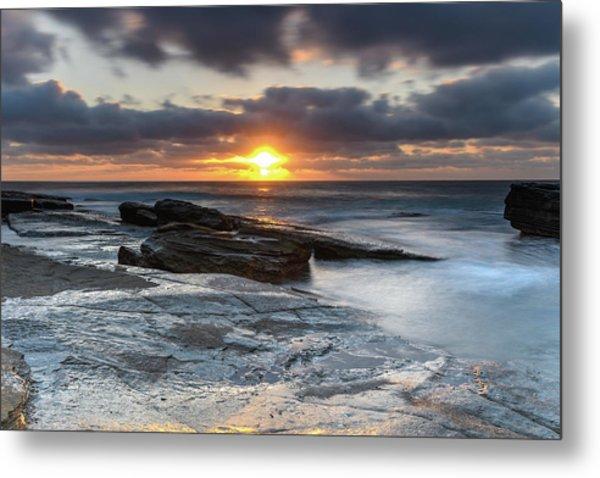 A Moody Sunrise Seascape Metal Print