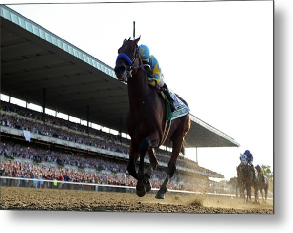 147th Belmont Stakes Metal Print by Rob Carr