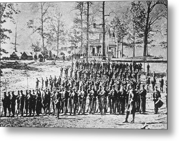 149th Ny Volunteer Regiment Metal Print by Archive Photos