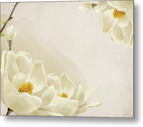 Peaceful Flower Metal Print by Eastnine Inc.