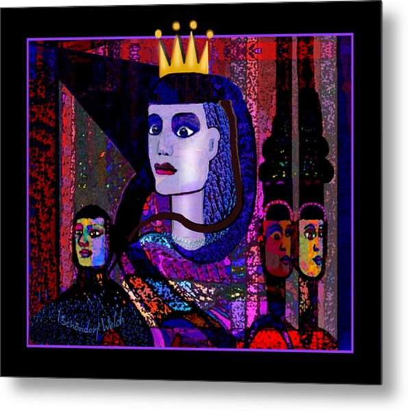 1792 Dark Queen In A Strange Land  2017 V Metal Print
