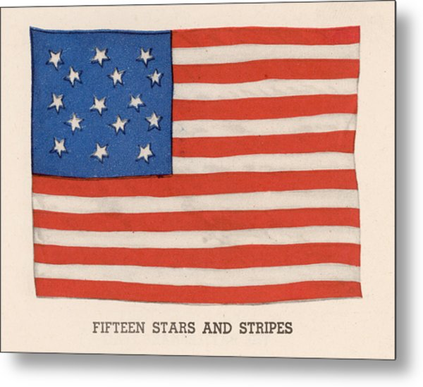 1794 American Flag Metal Print by Kean Collection