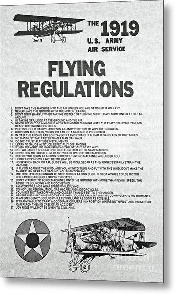 1919 Flying Regulations Poster Metal Print