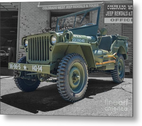 1942 Willys Gpw Metal Print
