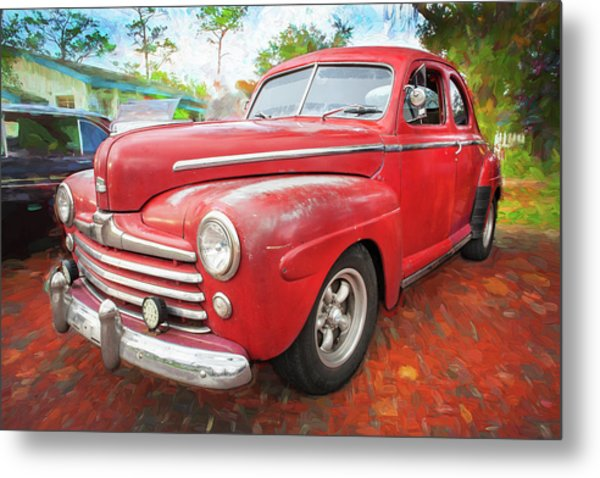 1947 Ford Super Deluxe Coupe 001 Metal Print