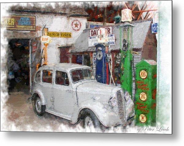 1950s Garage Metal Print