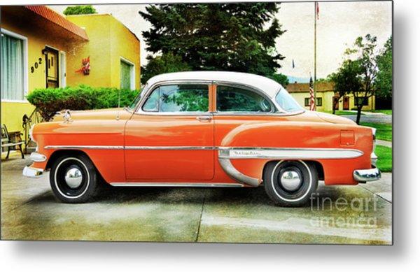 1954 Belair Chevrolet 2 Metal Print