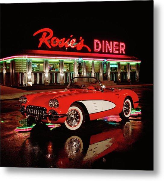 1960 Chevrolet Corvette Convertible Metal Print by Car Culture