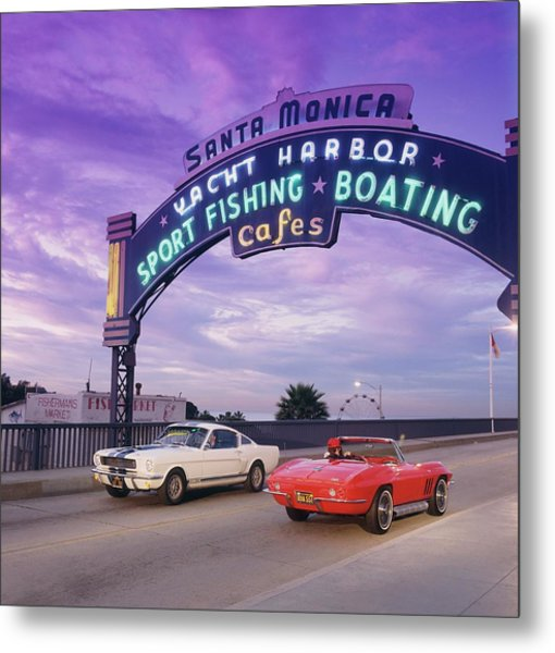1966 Shelby Gt 350 & 1966 Chevrolet Metal Print