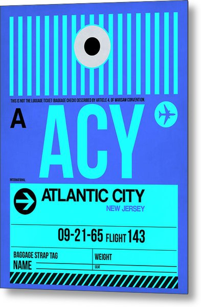Acy Atlantic City Luggage Tag I Metal Print