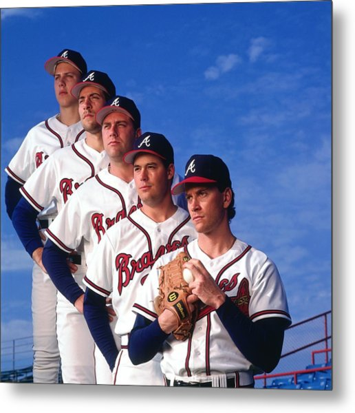Atlanta Braves Metal Print by Ronald C. Modra/sports Imagery