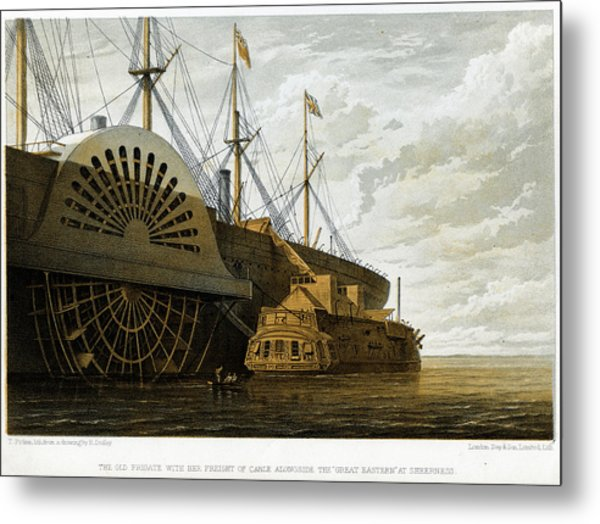Atlantic Cable Laying Metal Print by Kean Collection