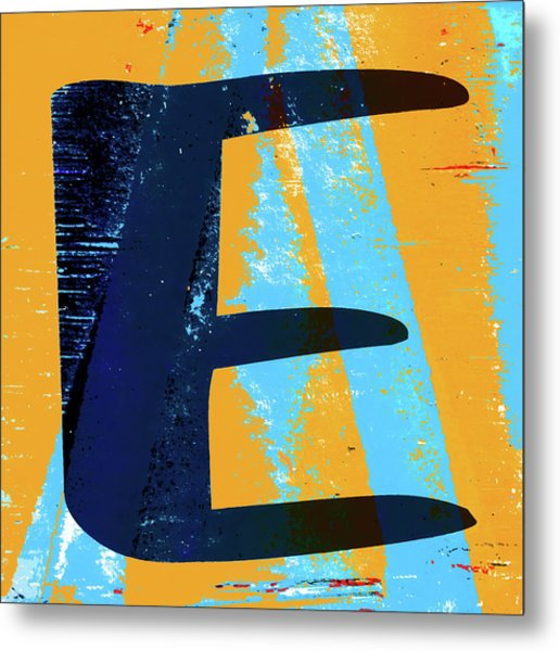 Big Letter E Square Metal Print