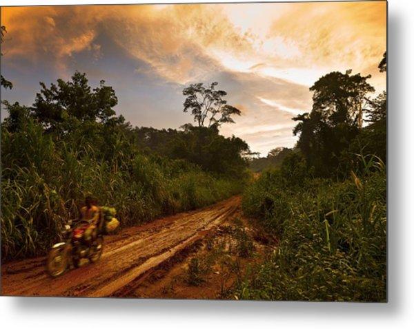 Cameroon Logging Metal Print