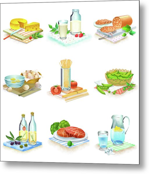 Close-up Of Food Stuff Metal Print by Eastnine Inc.